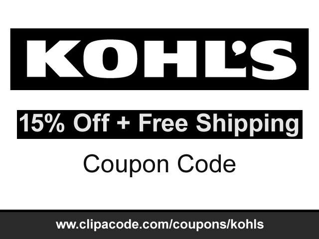 Free shipping kohls coupon code
