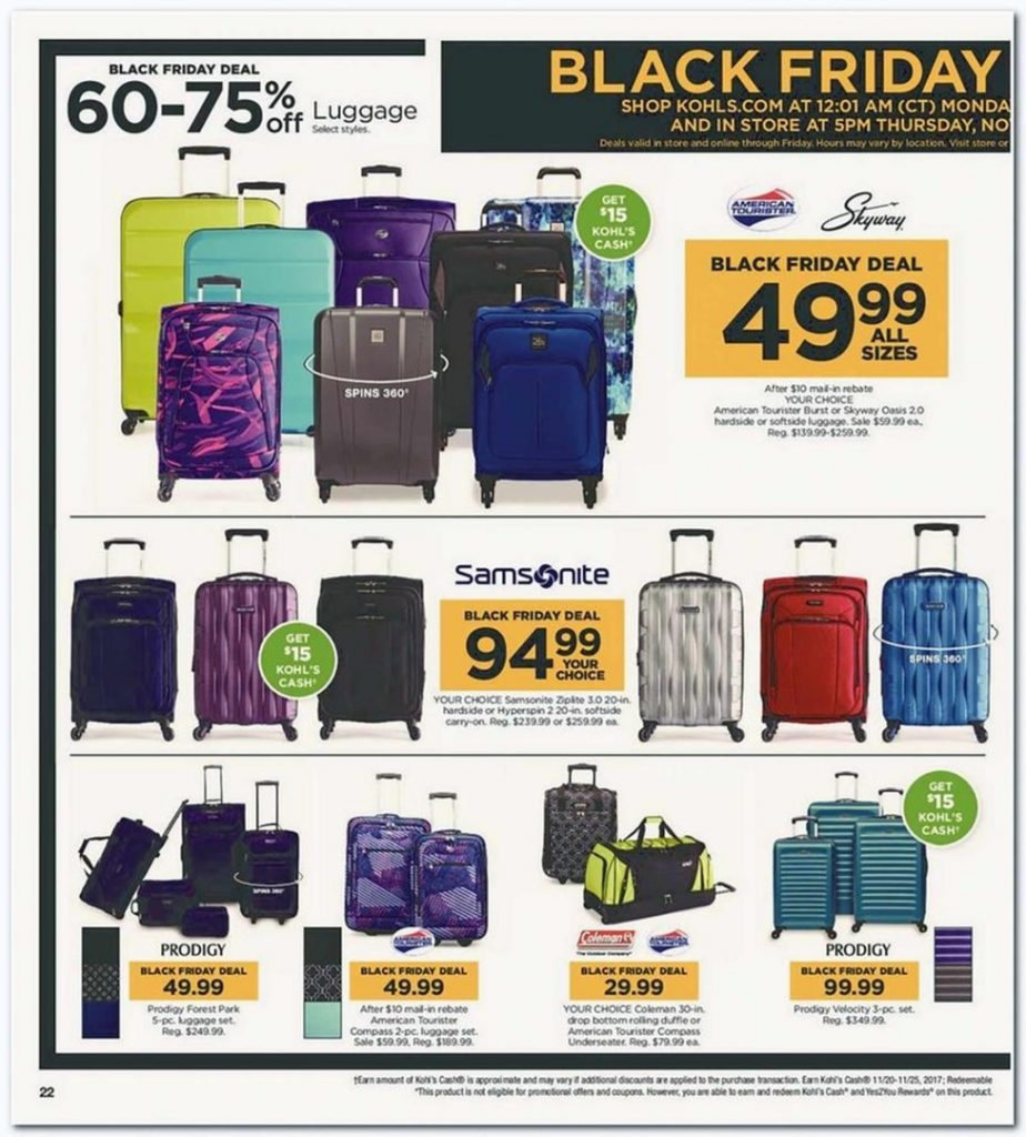 kohls thanksgiving deals 2019