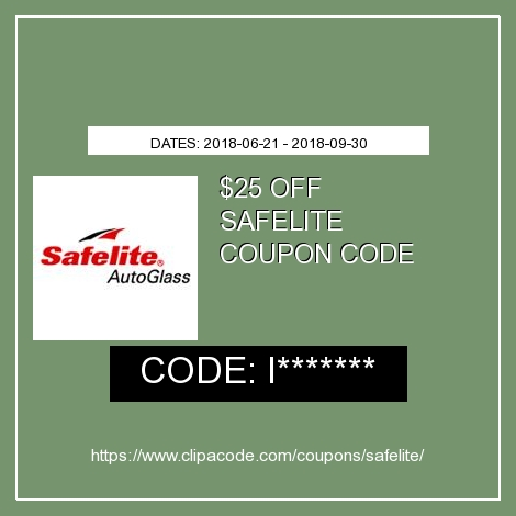 photo about Safelite Auto Glass Printable Coupon known as Safelite Promo Code: $25 Off Inside-Retailer Shed-Off, September 2019