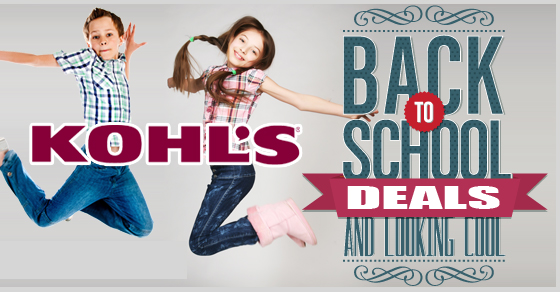 kohl's back to school coupon code deals