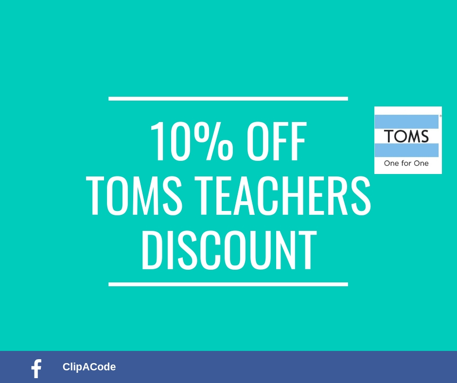 TOMS Teacher Discount