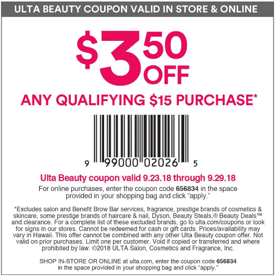 Ulta Coupon Code 35 Off 15 In Store Discount June 2019