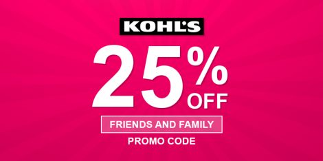 Kohls Friends And Family Discount