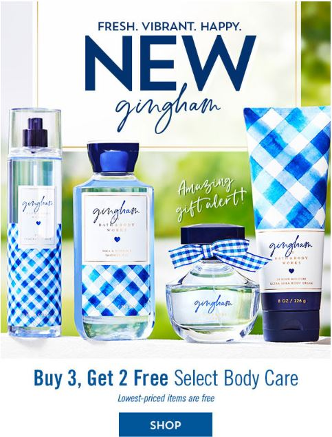 BATH AND BODY WORKS BODY CARE DEAL