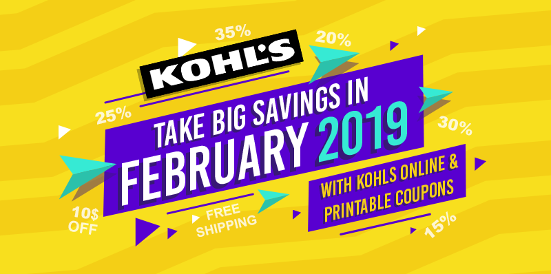 KOHLS COUPONS FEBRUARY 2019