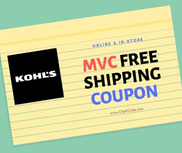 kohls free shipping mvc coupon code