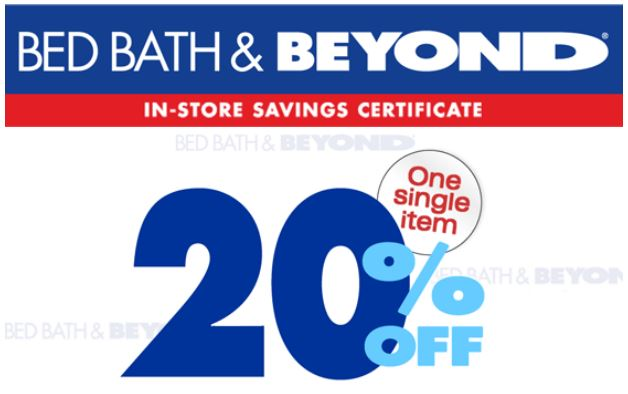 Bed Bath And Beyond 20 Off Entire Purchase 2019