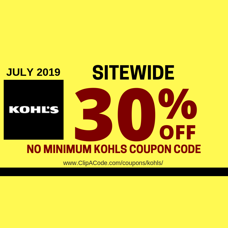 KOHLS DISCOUNT CODE APRIL 2019