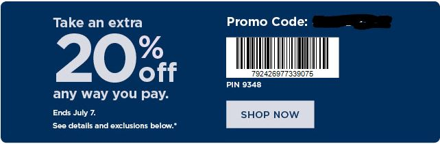 photograph relating to Shopko 20 Off Printable Coupon named More 20% Off Kohls Discount coupons + Kohls Hard cash September 2019