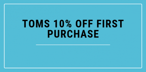 TOMS Coupon Code 10% Off